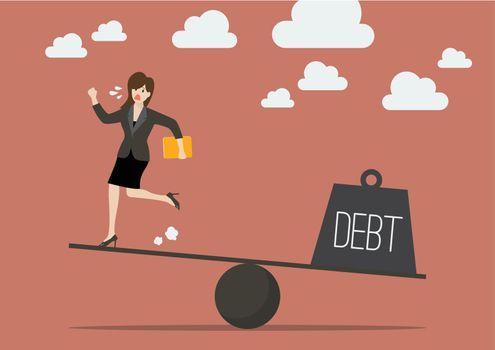 Balancing between business woman and debt