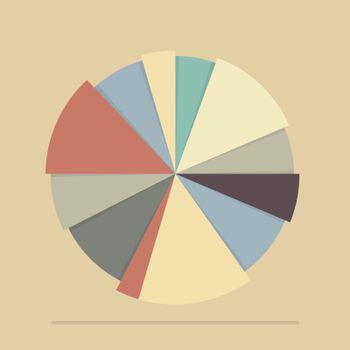 Pie chart for documents and reports