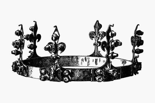 Antique royal crown