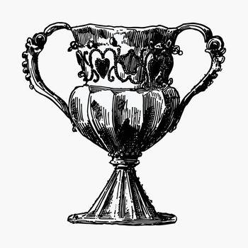 Antique silver goblet