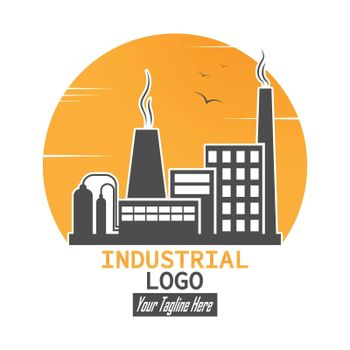 Industrial logo. A simple vector icon for websites and web applications, a logo, an emblem and a label. Flat style