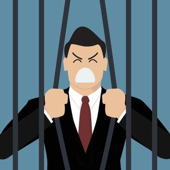 Businessman try to escape from prison