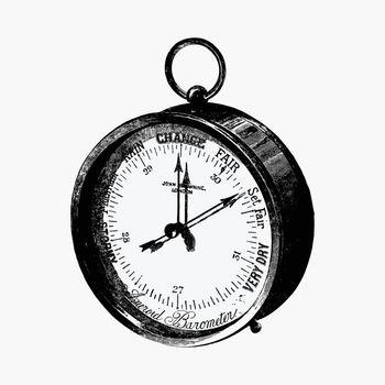 Antique navigation compass