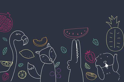 Cute fruity background