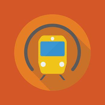 Transportation Flat Icon. Subway