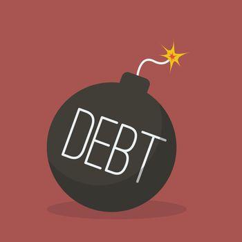Debt bomb with sparkle
