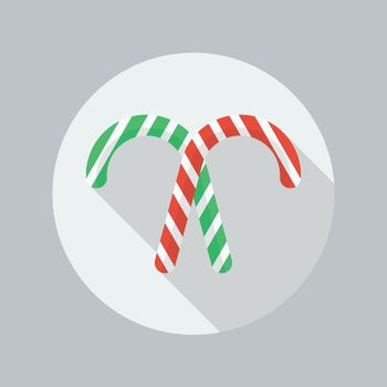 Christmas Flat Icon. Candy cane