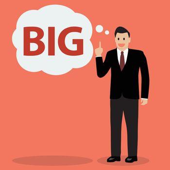 Businessman think big