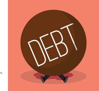 Businessman under heavy debt
