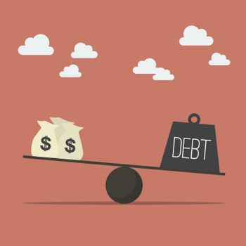 Balancing with income and debt