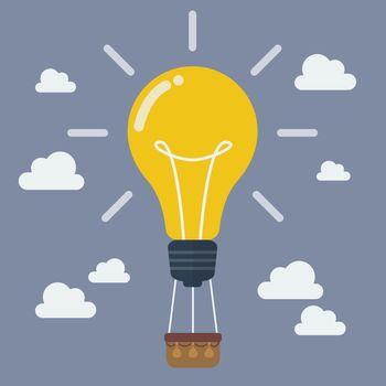 Idea lightbulb balloon