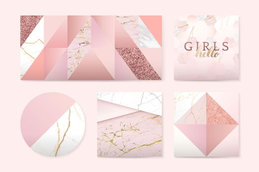 Girly pink badges