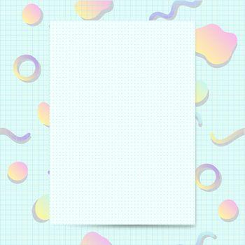 Girly pastel card mockup vector