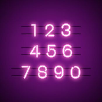 Number 0-9 numeral system vector