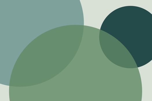 Overlapping circles background vector