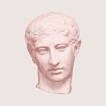 Greek god statue vector aesthetic post