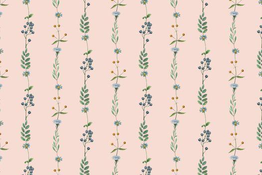 Floral fruity frame design vector