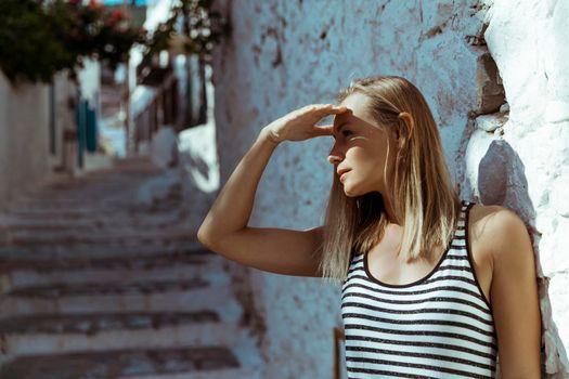 Traveler Woman in Greece