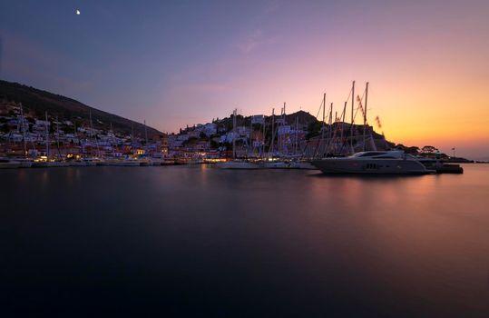 Sailboat Harbor in Greece