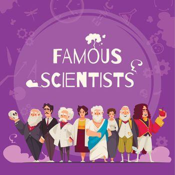 Famous Scientists Square Composition