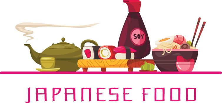 Japanese Food Text Composition