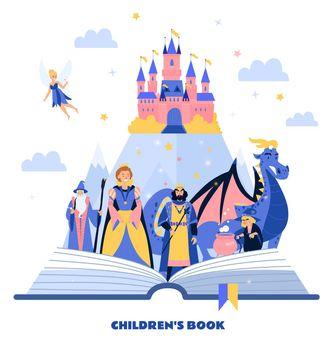 Book For Children Cartoon Illustration
