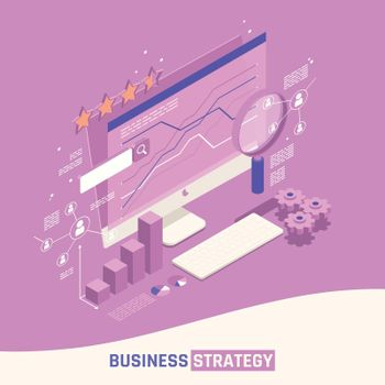 Business Strategy Isometric Concept