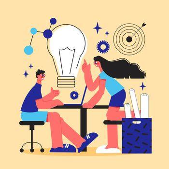 Brainstorm Cartoon Vector Illustration