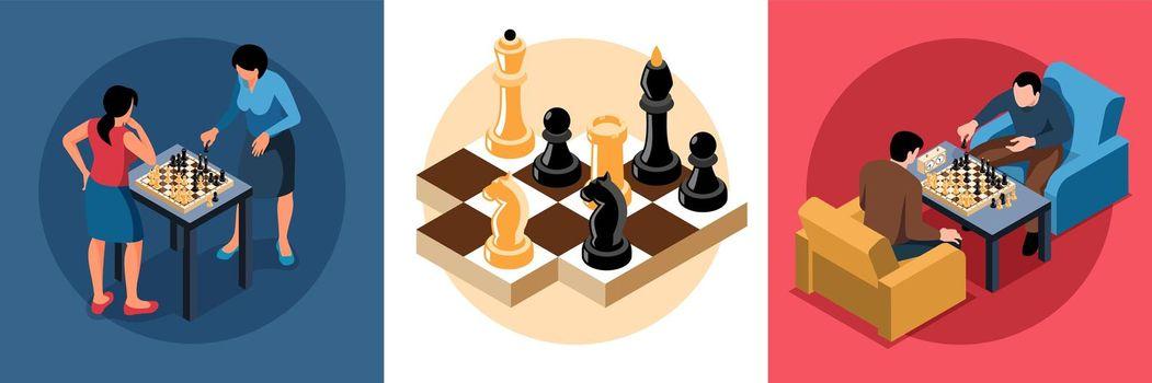 Chess Isometric Design Concept