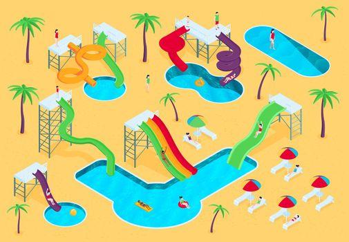 Water Aqua Park Composition