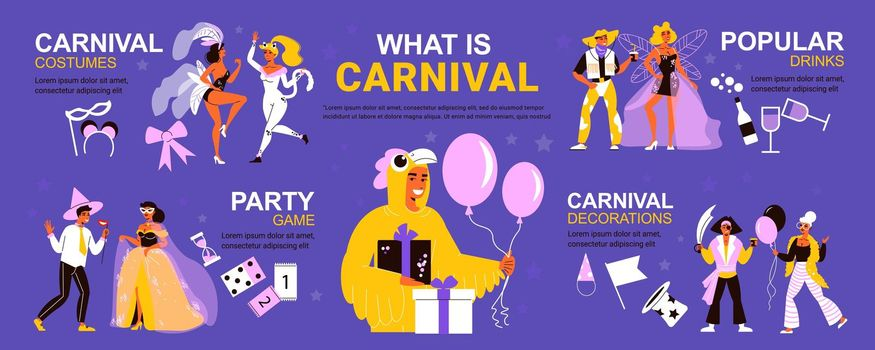 Corporate Carnival Party Infographics
