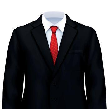 Male Suit Realistic Composition