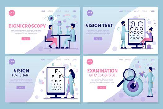 Ophthalmology Landing Pages Set
