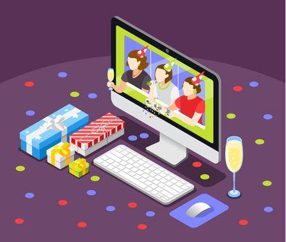 Remote Quarantine Party Background