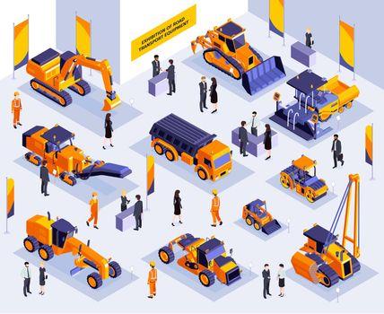 Road Construction Exhibition Composition