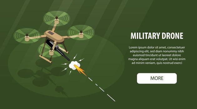 Military Drone Horizontal Banner