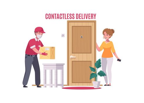 Contactless Delivery Illustration