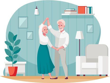 Senior Elderly People Activity Cartoon