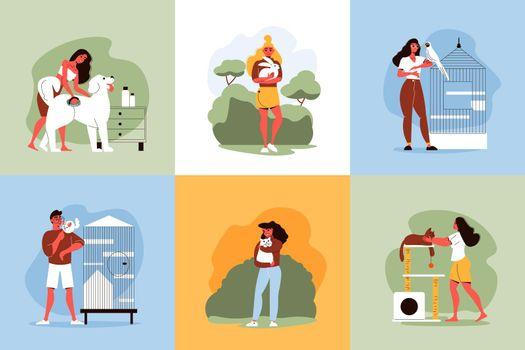 Pets People Design Concept