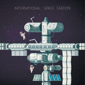 Orbital International Space Station Flat Composition