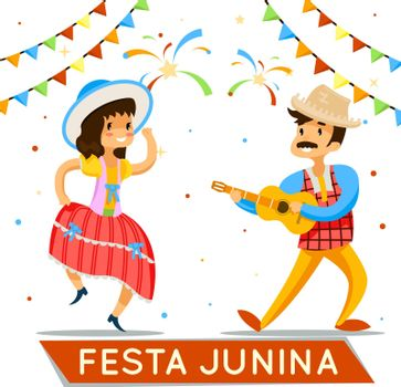 Latin American june party. Brazil holiday poster