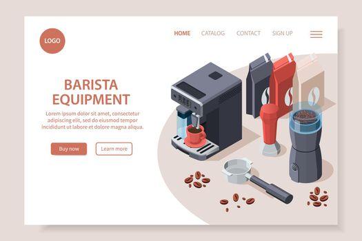 Professional Barista Equipment Website