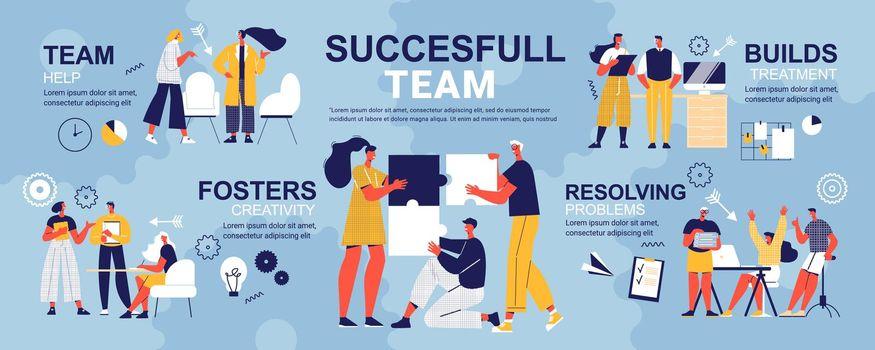 Successful Team Doodle Infographics