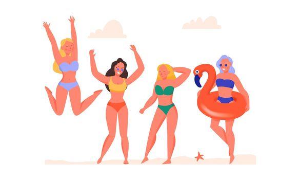 Women Dancing Illustration