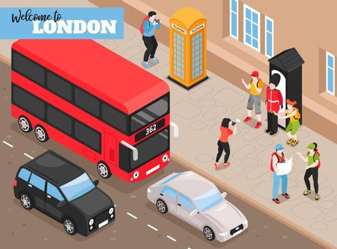 Welcome To London Isometric Background
