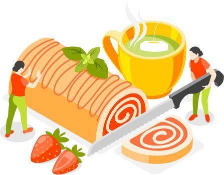 Bakery Isometric Concept