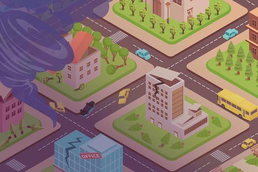 Tornado In City Composition