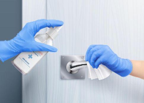 Door Handle Gloves Composition