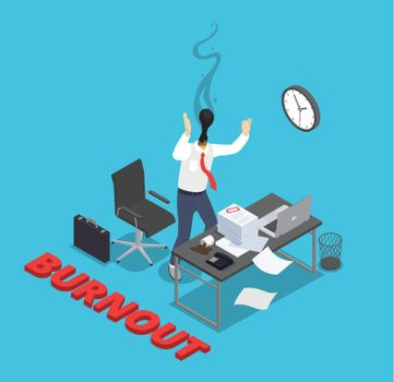 Professional Working Burnout Composition