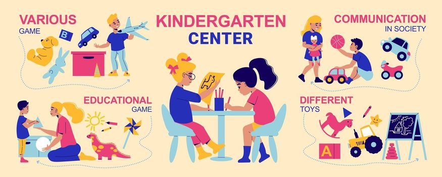 Kids In Kindergarten Infographics